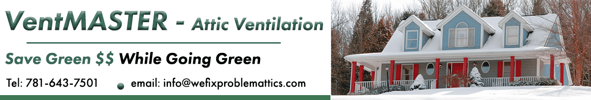 VentMASTER Attic Ventilation Solving Heat, Mold, and Ice Dam problems